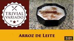 video receita arroz de leite